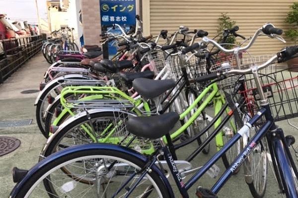 駐輪場も完備していますので、自転車での通塾もご安心ください。