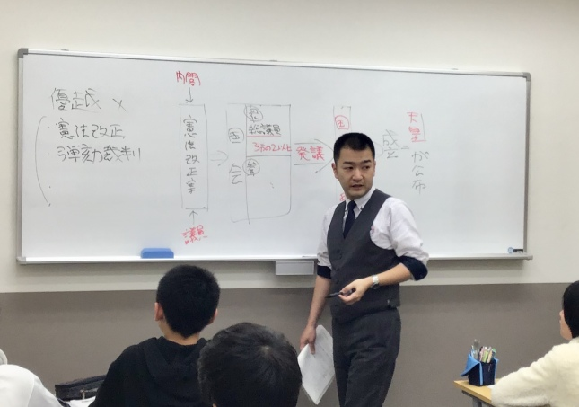 2Fクラス教室です。ライバルと競い合いながら楽しく学習します。